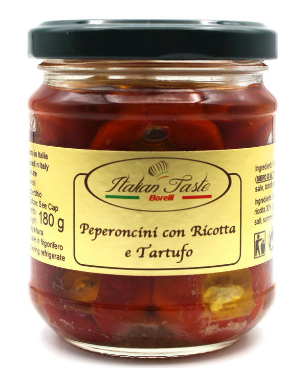 Red hot chilli peppers with ricotta and truffle - 180 g